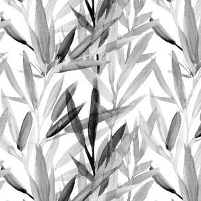 painted bamboo monochrome