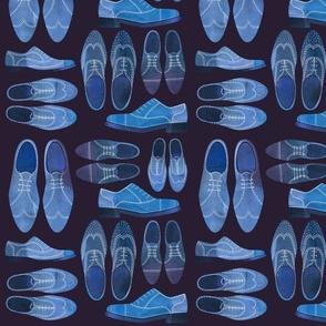 blue brogue shoes dark