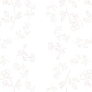 Floralie - blush on white