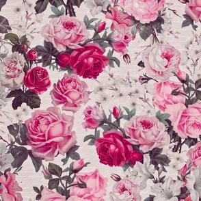 Vintage Rose Pattern In Shades Of Pink
