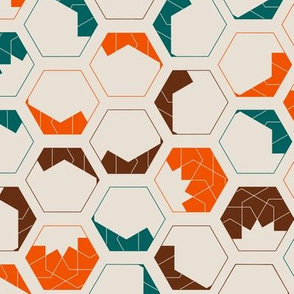 Geometrical design of hexagon honeycomb shapes