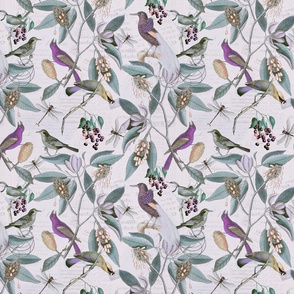 Magnolia And Bird Pattern_1