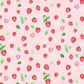 Strawberries Fabric