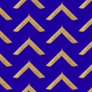 """Large 2"""" Worshipful Master Jewel Masonic Gold Blue"""