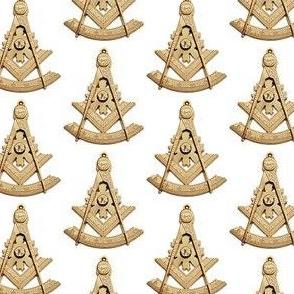 """Large 2"""" Past Worshipful Master Jewel Masonic Gold"""