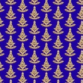 """Med. 1"""" Past Worshipful Master Jewel Masonic Gold Blue"""