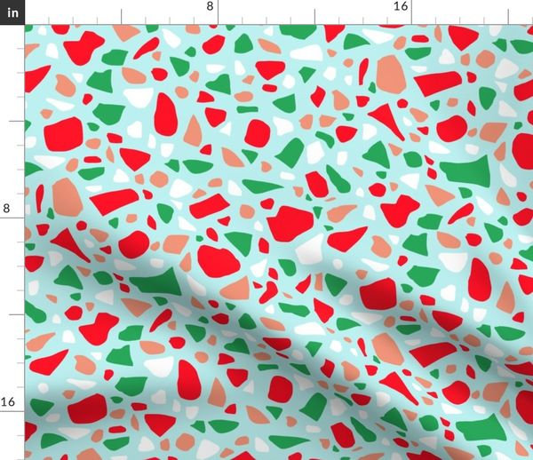 Terrazzo 2 in Christmas colors Red Pink