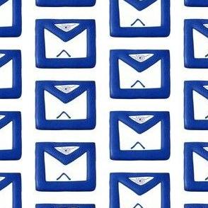 """Large 2"""" Blue Masonic Apron"""