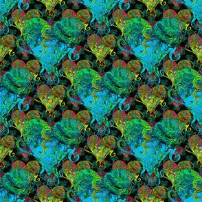 Swirly Hearts Multi Color