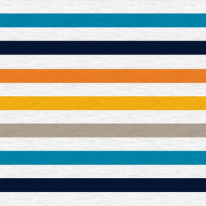 Playful Blue Vintage Stripe (A) -1""