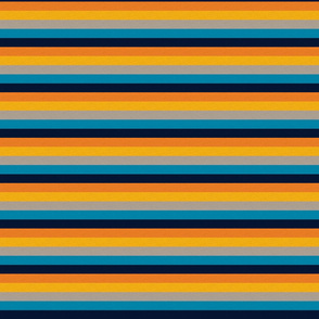 Playful Blue Vintage Stripe (C) - 1/2""