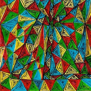 PRIMARY TRIANGLES DOODLE-RGBY-MIRROR