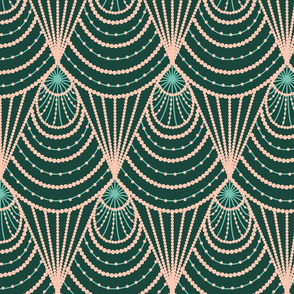 art deco (green and pink)