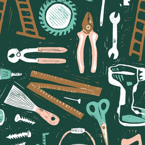 Handy work tools - forest green