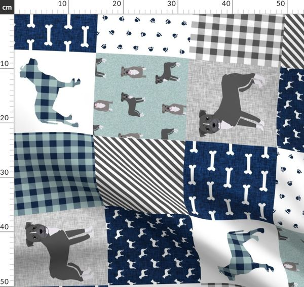 Pitbull Cheater Quilt Fabric