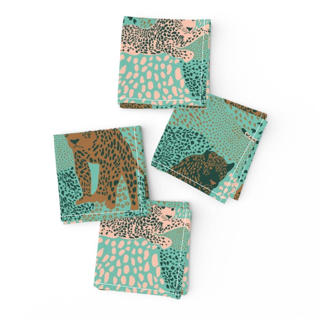 Frizzle Cocktail Napkins featuring jaguar camouflage by nina_leth