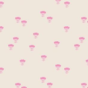 Little romantic flower minimal floral summer sand pink
