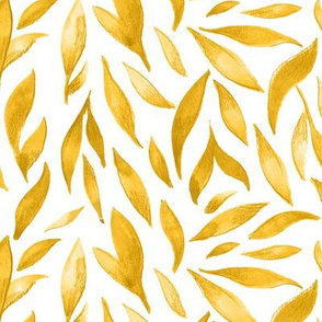 Watercolor Leaves - Yellow