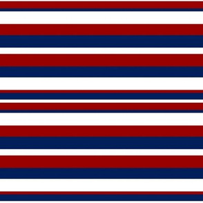 Horizontal Blue Red and White Stripes