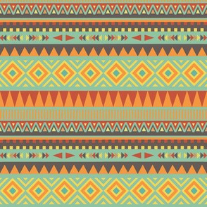 Desert Sunset Tribal Festival Pattern