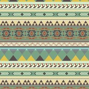 Moss Green Tribal Print