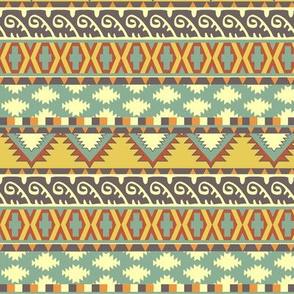 Sandstone Earth Tones Tribal Print