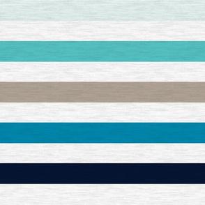 """Sea Blues Vintage Stripe (A) - 1"""""""