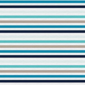 """Sea Blues Vintage Stripe (A)- 1/2"""""""