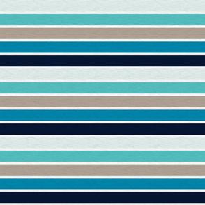 "Sea Blues Vintage Stripe (B)-1"""