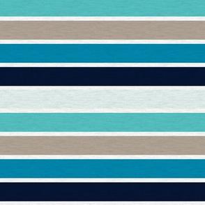 "Sea Blues Vintage Stripe (B)- 3/4"""