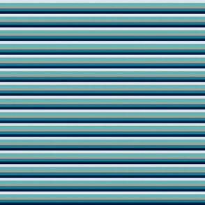 "Sea Blues Vintage Stripe (C) - 1/4"""