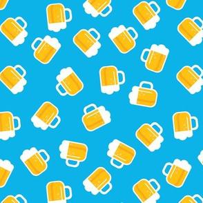 Traditional german oktoberfest beer holiday illustration print