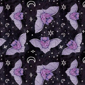 Purple Bats at Night