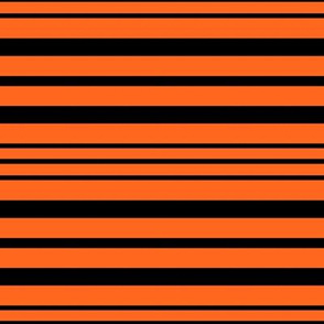 Horizontal Orange Black Stripes