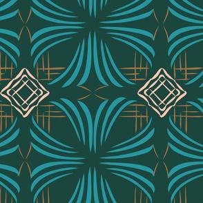 Art Deco Floral Limited Color Palette