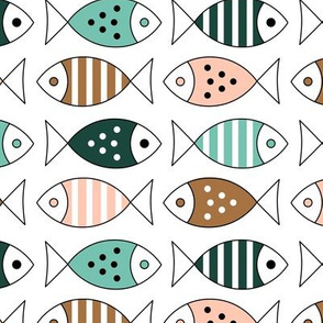 Fishes on White