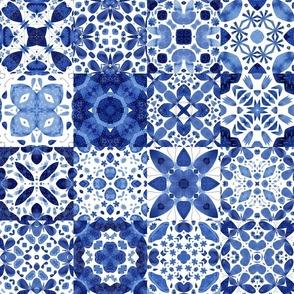 Indigo Watercolor Tiles