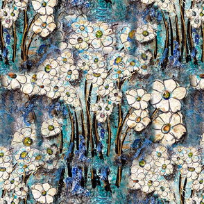Debbies Flowers Turquoise
