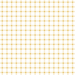 Cream Golden Gingham