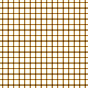 Golden Chocolate Gingham