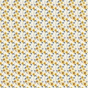 Sunflowers and cream 1x1