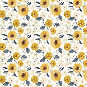 Sunflowers and cream 3x3
