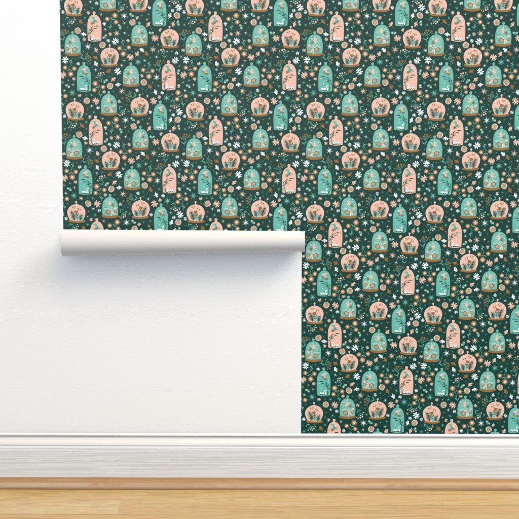 Isobar Durable Wallpaper featuring Moonlit Terrariums by oliveandruby