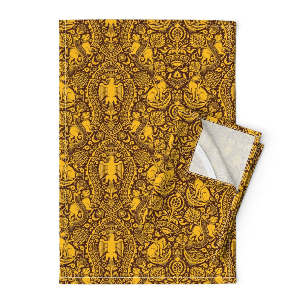 Orpington Tea Towels featuring Damask 3f by muhlenkott