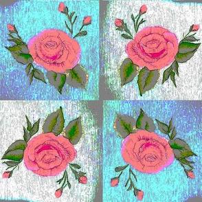 painted roses cupboard doors upside down limited palette