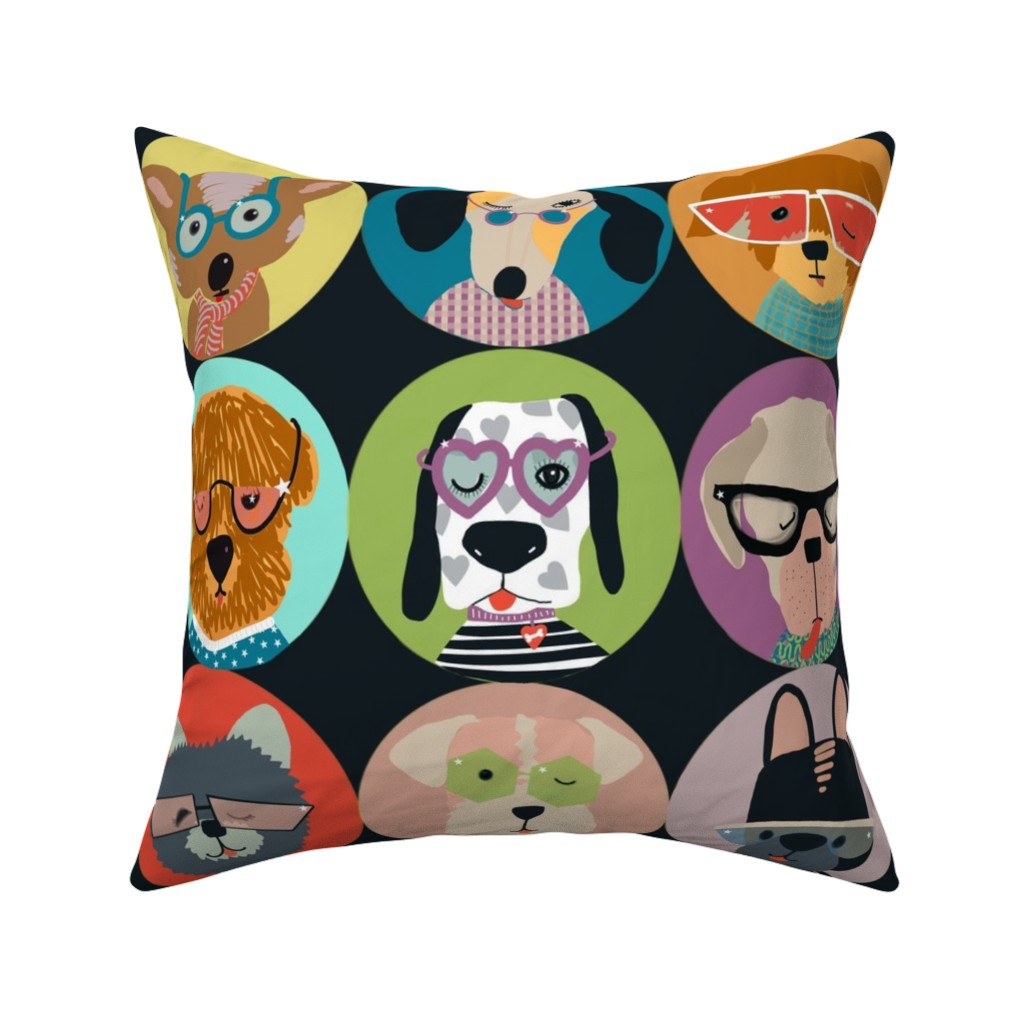 Catalan Throw Pillow featuring You got this! Starry eyed rock star besties by robynhammonddesign