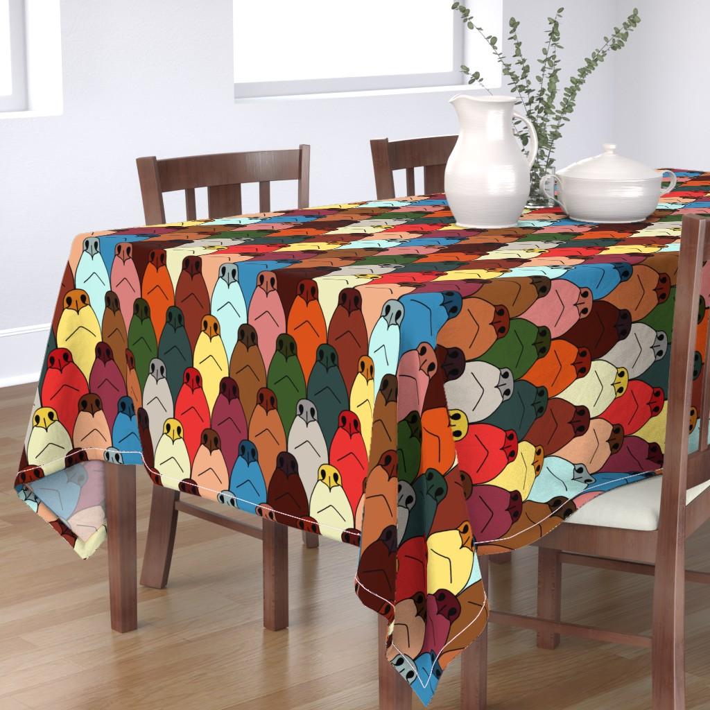 Bantam Rectangular Tablecloth featuring dog noses by mongiesama
