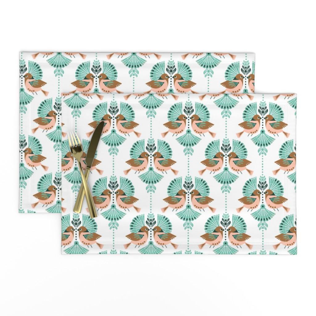 Lamona Cloth Placemats featuring Love Birds Damask by run_quiltgirl_run