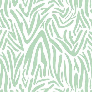 Minimal zebra wild life lovers abstract animal print monochrome trend soft mint green spring