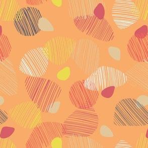pebble dash in orange red